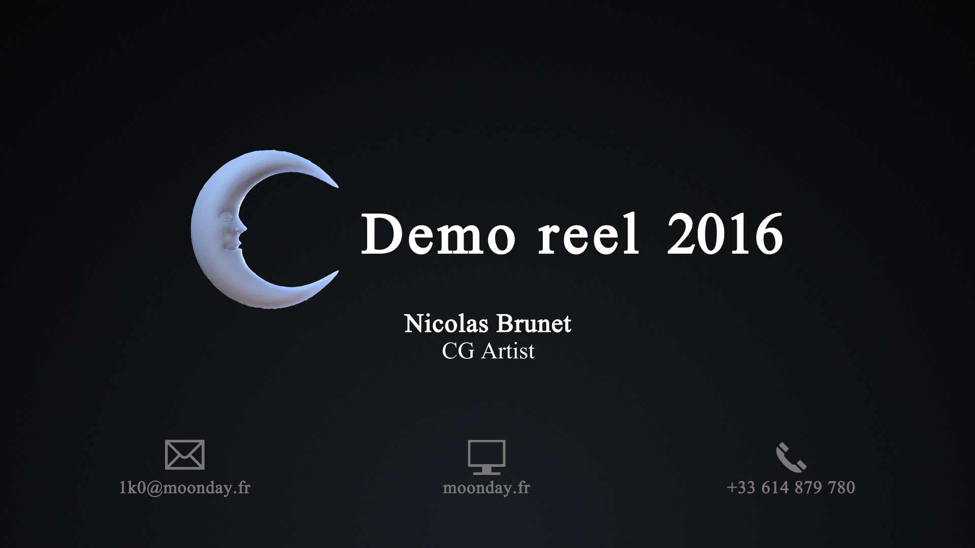 Demo reel – 2016